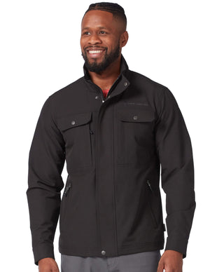 Free Country Men's Lightweight Aerobic Safari Soft Shell Jacket - Black - S