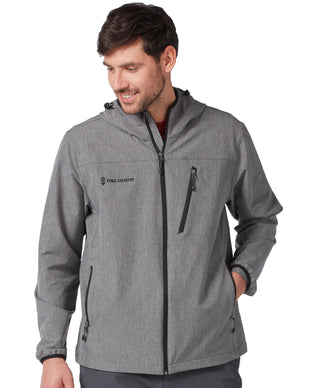Free Country Men's Light Weight Aerobic Softshell Jacket - Charcoal - S