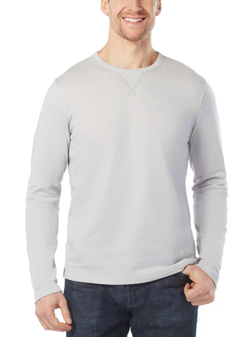 Free Country Men's Long Sleeve Summer Crew - Shell Grey - S