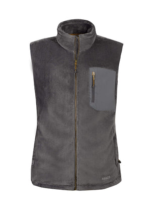 Free Country Men's Marshall Venture Pile Fleece Vest - Deep Charcoal - S
