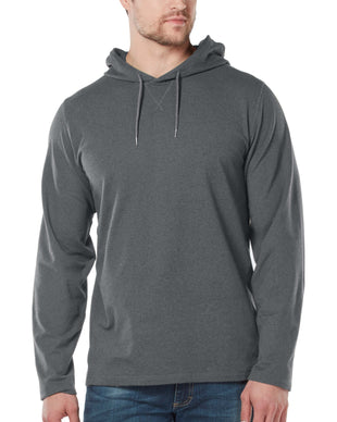 Free Country Men's Melange Fleece Hoodie - Medium Grey - S