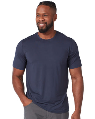 Free Country Men's Microtech Chill Cooling Crew Tee - Navy - S