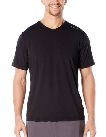 Free Country Men's Microtech Chill Cooling V-Neck Tee - Black - S