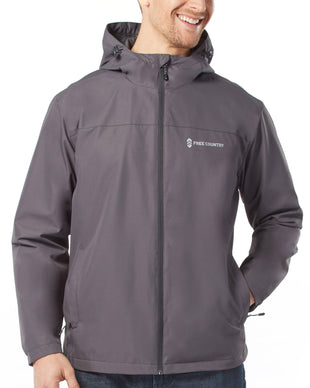 Free Country Men's Pace Water Resistant Rain Jacket - Grey - S