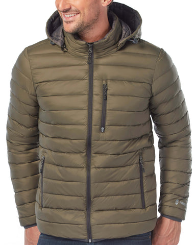 Free Country Men's Paragon Down Puffer Jacket - Olive - S