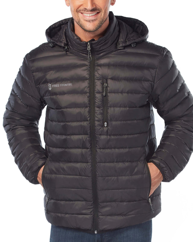 free country 50 50 down puffer jacket with detachable hood