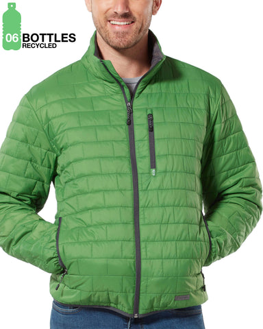 Free Country Men's FreeCycle™ Breakthrough Puffer Jacket - Apple Green - S