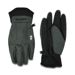 Free Country Men's Pieced Dye Softshell Glove - Grey - M