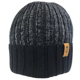Free Country Men's Rib Knit Cuffed Beanie - Black Marl - O/S