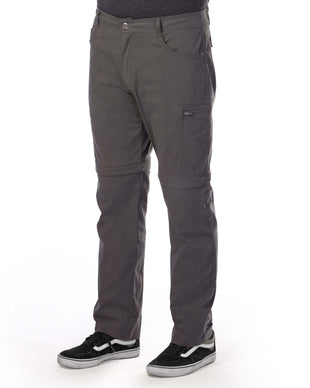 Free Country Men's Rustic Zip-Off Woven Cargo Pant - Charcoal - 30/30