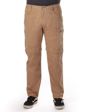 Free Country Men's Rustic Zip-Off Woven Cargo Pant - Khaki - 30/30