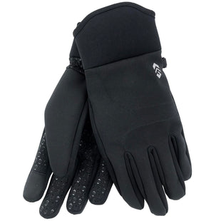 Free Country Men's Softshell 2-Way Stretch Glove - Black - L/XL