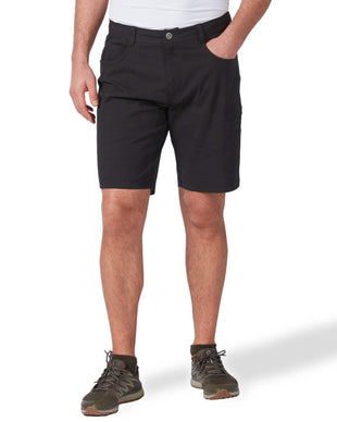 Free Country Men's Stretch Active Poplin Trek Cargo Short - Black - 32
