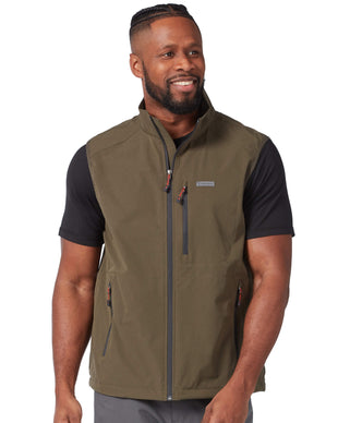 Free Country Men's Stretch Rip Stop Adventure Vest - Olive - S