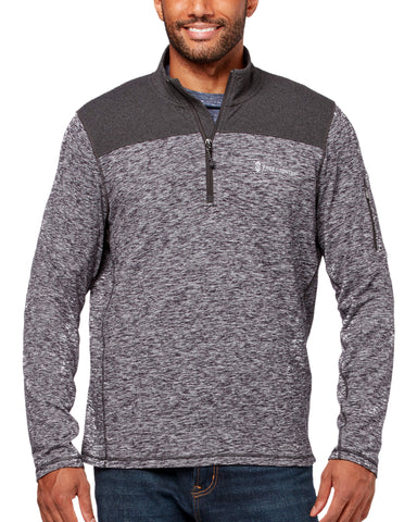 Free Country Men's Sueded 1/2 Zip Active Shirt - Charcoal - S