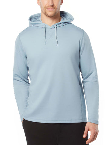 Free Country Men's Summer Weight Hoodie - Sky Blue - S