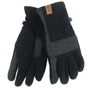 Free Country Men's Sweaterknit Glove - Black - L/XL