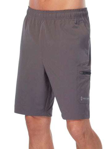 Free Country Men's Tech Stretch Short - Charcoal - S