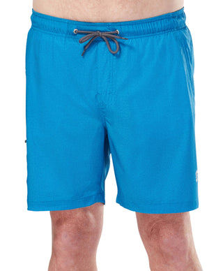Free Country Men's Textured Board Short - Blue - S