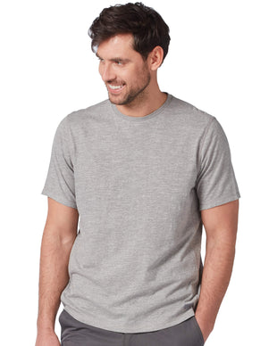 Free Country Men's Textured Short Sleeve Crew Tee - Grey - S