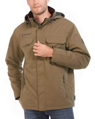 Free Country Men's Trail Microfiber Jacket - Tan - S
