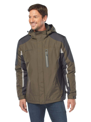 Free Country Men's Ultimatum Multi Rip-Stop Jacket - Dark Olive - S