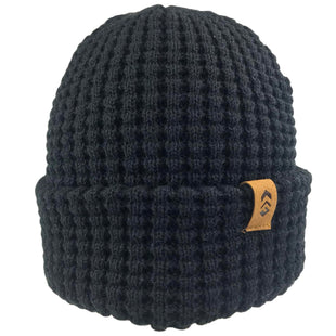 Free Country Men's Waffle Knit Beanie - Black - O/S