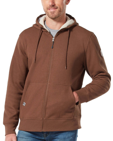 Free Country Men's Waffle Sherpa Lined Hoodie - Chestnut - S