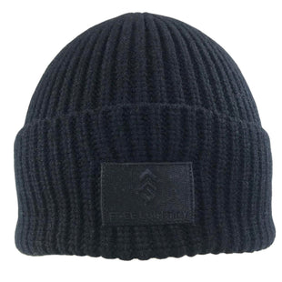Free Country Men's Wide Cuff Knit Shoreman Beanie - Black - O/S
