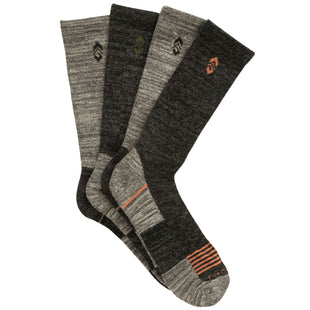 Free Country Men's Wool-Blend Charcoal Basic Crew Socks - Black - 9-12