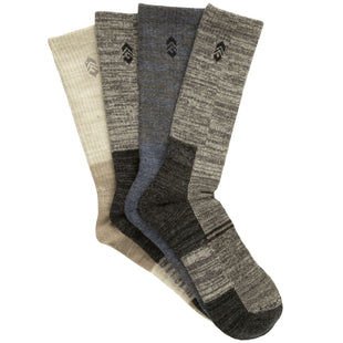 Free Country Men's Wool-Blend Marled Wardrobe Crew Socks - Assorted - 9-12