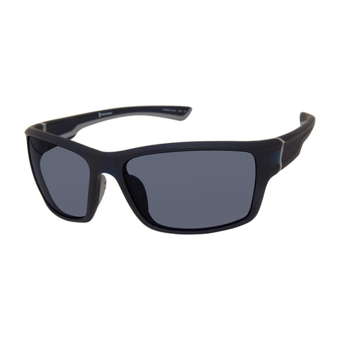 Free Country Men's Wraparound Sunglasses - Black -