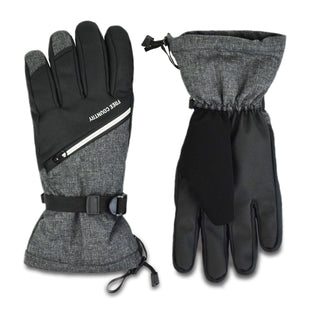 Free Country Men's Zip Pocket Ski Glove - Charcoal - L/XL