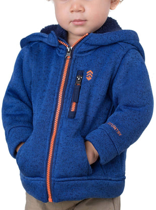 Free Country Toddler Boys' Mountain Fleece Jacket - Electric Blue - 2T