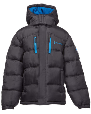 Free Country Toddler Boys' Summit Puffer Jacket - Black - 2T