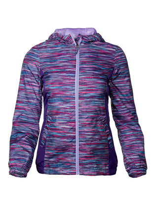 Free Country Toddler Girls' Cadence Windshear Jacket - Purple Reign - 2T