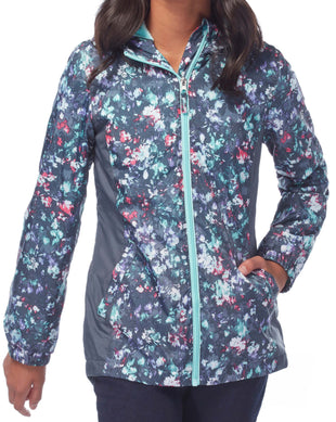 Free Country Toddler Girls' Cadence Windshear Jacket - Spearmint - 2T