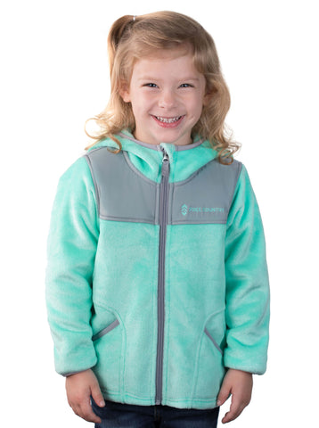 Free Country Toddler Girls' Galaxy Butter Pile Fleece Jacket - Spearmint - 2T