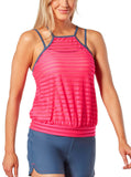 Women's Active Mesh Layered Tankini Top