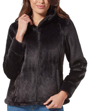 Free Country Women's Alpine Plush Pile Fleece Jacket - Black - S