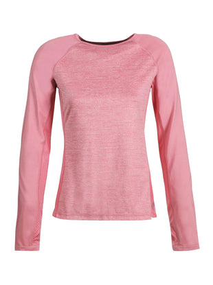 Free Country Women's B Active Heathered Melange Top - Coral Blush - S