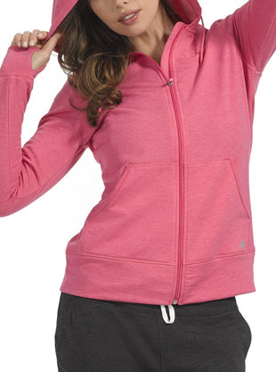 Free Country Women's B Chill Zip Hoodie - Petunia - S