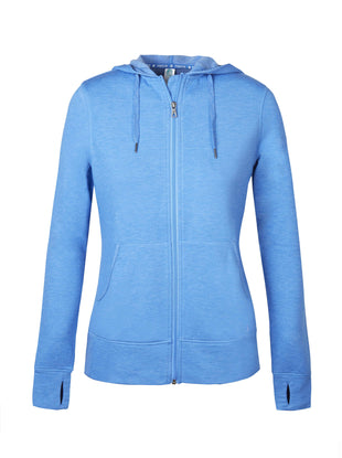 Free Country Women's B Chill Luxe Fleece Zip Up Hoodie - Rich Water - S