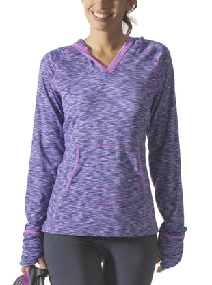 Free Country Women's B Comfortable V-Neck Hoodie - Lilac Winter - S