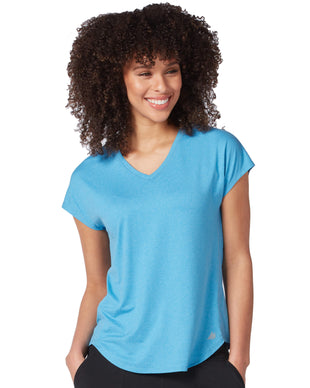 Free Country Women's Microtech Chill B Cool Tee - Faded Blue - S