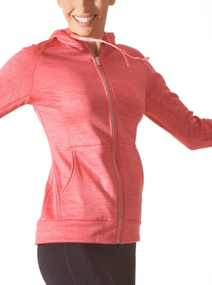 Free Country Women's B Cozy Reflective Full Zip Fleece - Coral Blush - S