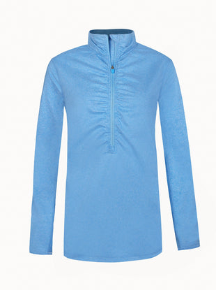 Free Country Women's B On The Move Quarter Zip Top - Blue Fairy - S