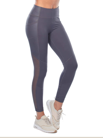 Free Country Women's B Outside the Line Legging - Charcoal - S