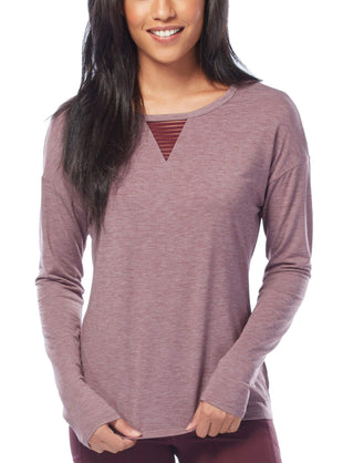 Free Country Women's B Outside the Line Top - Oxblood - S
