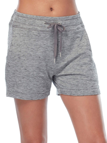 Free Country Women's B Relaxed Luxe Fleece Short - Charcoal